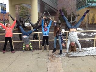 handstands in Indy